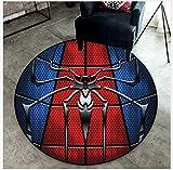 Mianbao Tapis Rond Ecleanedarea Kids Mat Mat Décoratif De Mode Marvel Spiderman Chaise De Bureau Ramper Tapis Salon Waterpro De Non Toxique 200 cm