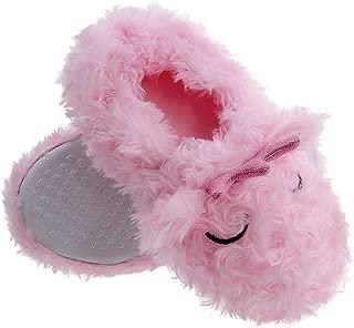 Shoeslocker Girls Plush Memory Foam Slippers
