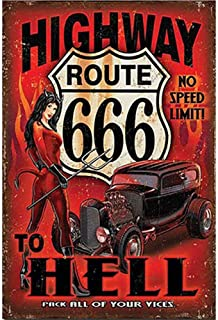 Danny Penaw Decor Sign On The Road Again Camping.8x12 Vintage Tin Sign Art Decor for Coffee Yard Home Wall Decor