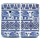 Bfun Packing Tribal Elephant Card Slot Wallet PU Leather Cover Case for Nokia Lumia 520