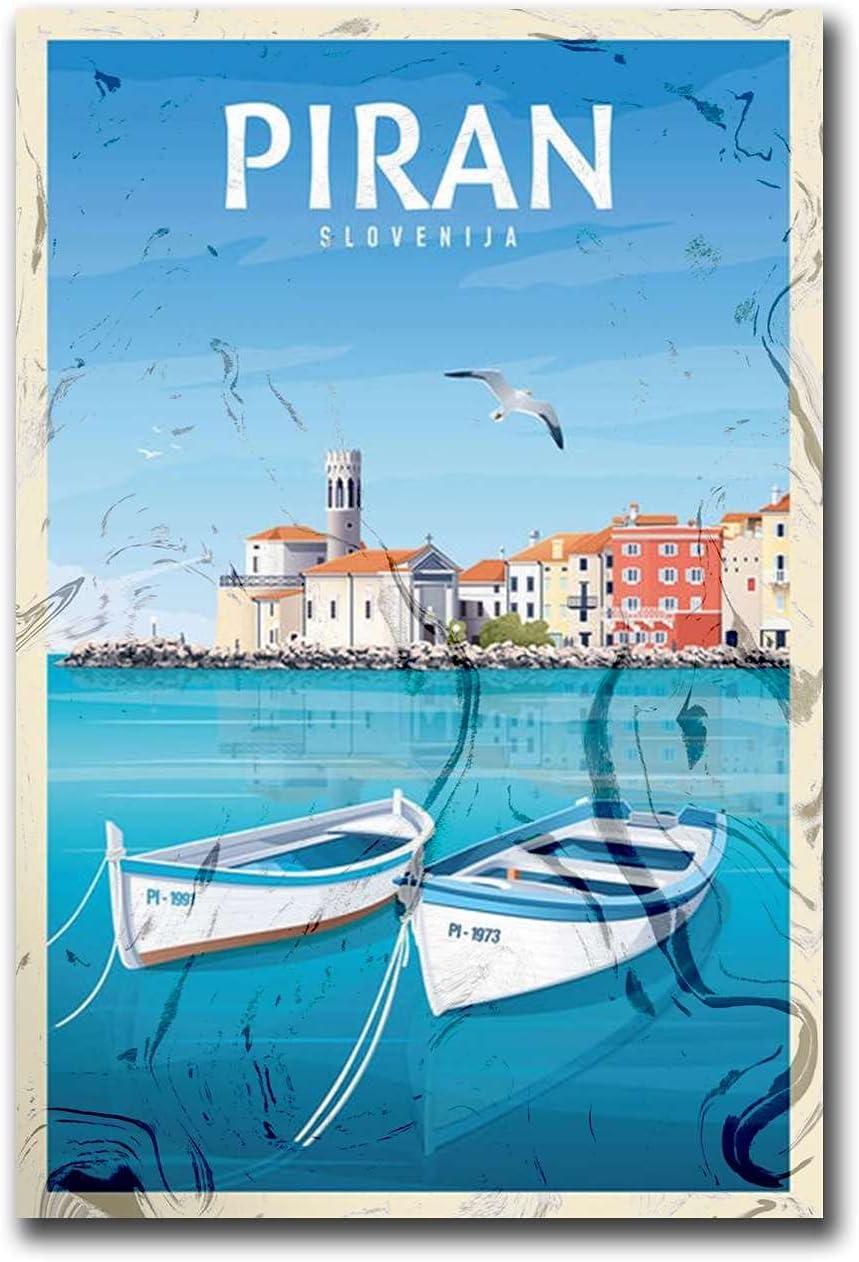 Piran Slovenia Adriatic Sea Travel Mesa Mall A Art Prints Wall Posters Courier shipping free shipping
