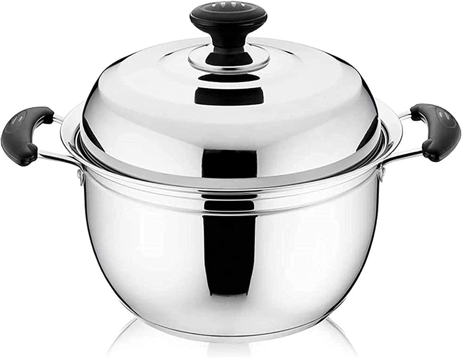 Pans Max 64% OFF for cooking Food Grade Stainless with Pot Japan Maker New Steamer Lid Steel
