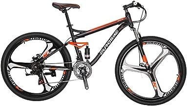 Eurobike S7 Mountain Bike 27.5 Inche Wheels Dual Suspension Mountain Bicycle 21 Speed MTB