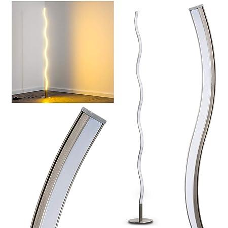 Lampadaire LED Dillon en métal, luminaire ondulé idéal pour une chambre, un salon ou une salle à manger, lampe design produisant 1000 Lumen à 3000 Kelvin