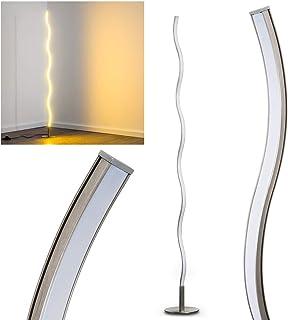Lampadaire LED Dillon en métal, luminaire ondulé idéal pour une chambre, un salon ou une salle à manger, lampe design prod...
