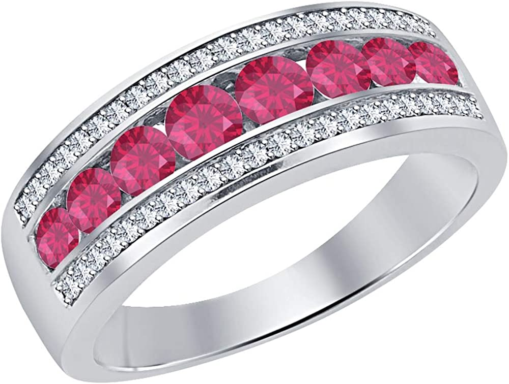 Gold Diamonds Jewellery 14k Plated Row 1.2 Round Popular standard Over item handling Ct Three