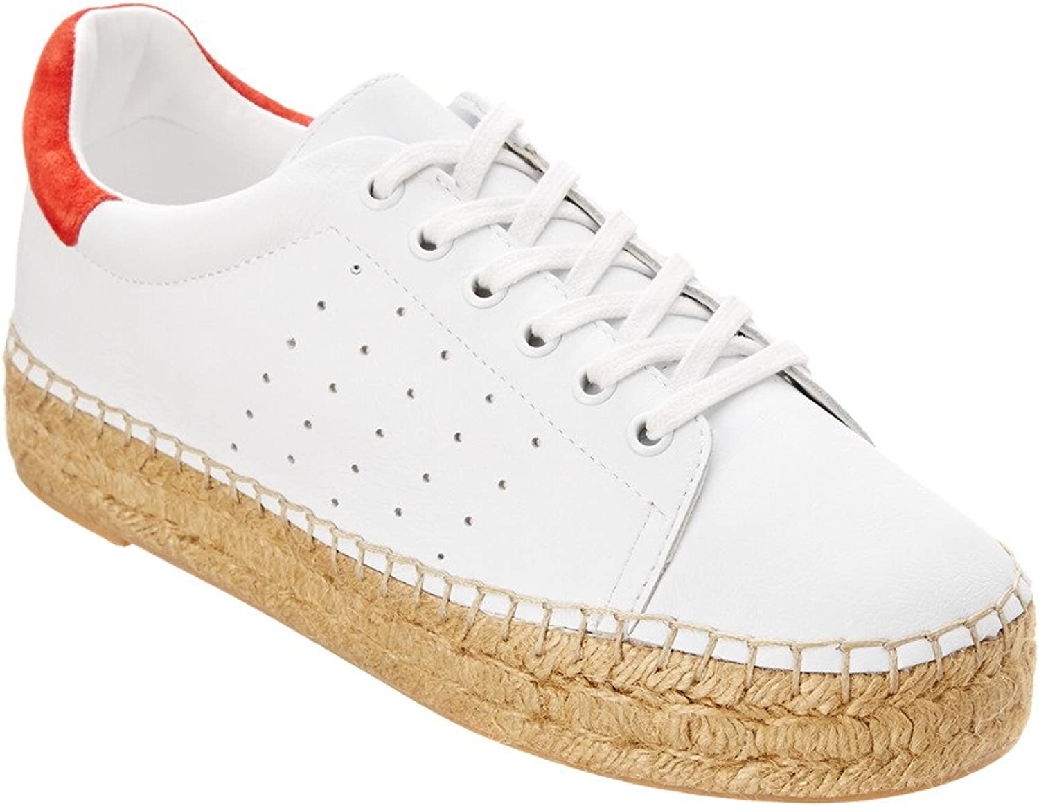 Marc Fisher Womens Mandi Leather Espadrille Fashion Sneakers