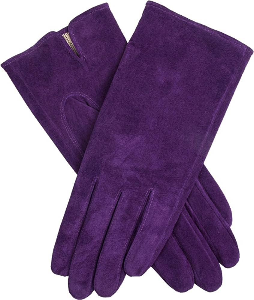 Dents Womens Emily Plain Suede Gloves - Amethyst