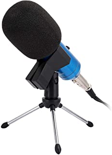 Condenser Microphone, Live Streaming USB Cardioid Condenser Microphone Built-in Reverb Plug and Play No Need Debugging Com...