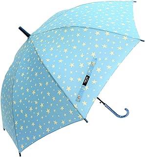 CAFE DIMLY UVインディゴスターBL 星柄 60CM ブルー カフェディムリー キッズカサ レディース傘 ジャンプ傘 グラスファイバー骨使用 晴雨兼用傘 UVカット率90%以上