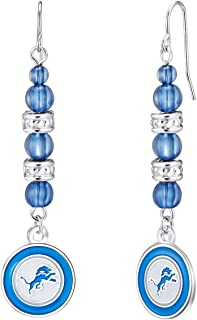 NFL Beaded Dangle Earrings | Sports Fan Jewelry Gift | Fashion Jewelry | Birthday & Holiday Gifts for Women and Girls