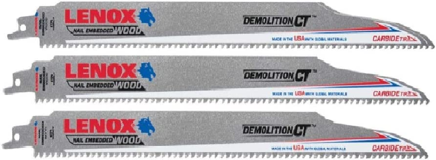 Lenox 2058827 New sales 6 Tpi Carbide Saw Tip Safety and trust Reciprocating Blade