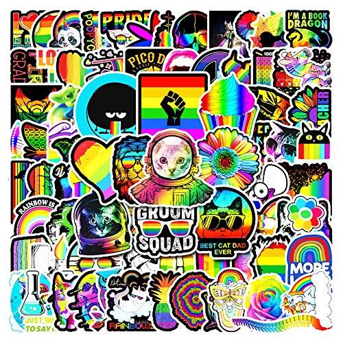 WYZNB 100 unids no repetitivo color pegatinas niños Pascua creativo regalo decoración portátil impermeable vinilo coche graffiti pegatinas