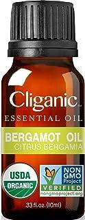 Cliganic Organic Bergamot Essential Oil, 100% Pure Natural for Aromatherapy | Non-GMO Verified
