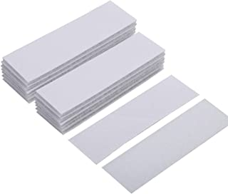 BRAVESHINE Double Sided Adhesive Strips - 15PCS Industrial Strength Hook Loop Tape - Removable Picture Hanging Strips - Wall Mounting Sticky Pads for Carpet Trends, Cabinet Lights (White, 1.2x4 Inch)