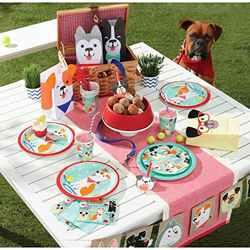 Great Features Of Dog Party Happy Birthday Bundle Disposable Tableware & Party Favors | Includes: Pl...