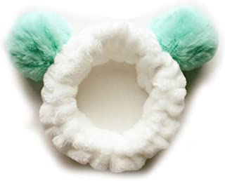 Cute Panda Ear Soft Carol Fleece Women Headband Makeup er Head Wrap Hair Band Washing Face Spa Mask