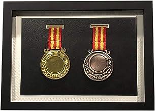 zzjj Eenvoudige en mooie medaille Display Box,Houten Oorlog Militaire en Sport Medailles Display Frame,Om medailles, Badge...
