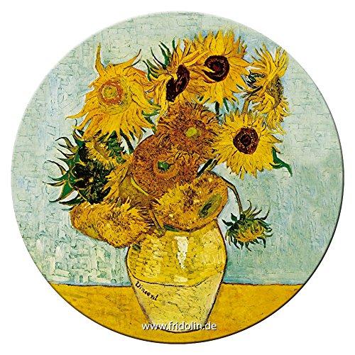 Fridolin Miroir de Poche 7,6 Cm Van Gogh: Tournesols en Métal
