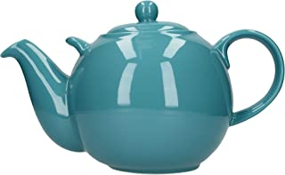 London Pottery Globe Extra Large Teapot with Strainer, Ceramic, Aqua, 10 Cup (3.2 Litre)