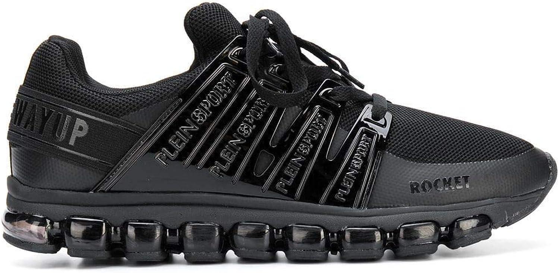 PLEIN SPORT Herren MSC1381SXV001N02 Schwarz Schwarz Schwarz Leder Sneakers B07HQGXKM1  1d9727