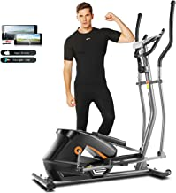 ANCHEER APP Elliptical Machine, 2021 Newest Elliptical Machine Cross Trainers with Adjustable 8 Level Magnetic Resistance ...