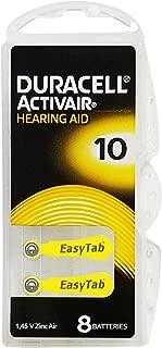 Duracell Activair Hearing Aid Batteries: Size 10 (80 Batteries)