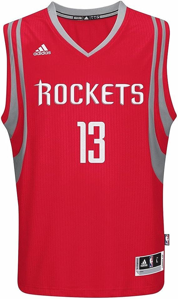 Amazon.com : adidas James Harden Houston Rockets NBA Men's Red ...
