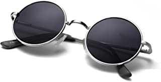 Unique Blue Mirrored Color Lenes John Sunglasses Polarized for Men Women Glass Driving Outdoor UV400