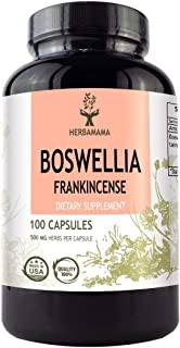 Boswellia Frankincense 100 Capsules 500 mg | Filled With Boswellia Serrata Extract | Contains 65% Boswellic Acids | Supports Muscle and Joint Health | Strengthens the Immune System | Improves Gut Func