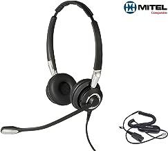 Mitel Certified Jabra Biz 2400II Duo UNC Headset Bundle Mitel 5000 Series Mitel 8000 Series and SuperConsole 1000 2000 Phones