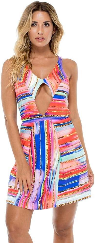 Luli Fama BELLAMAR - Cut Out Dress - XS/Multicolor