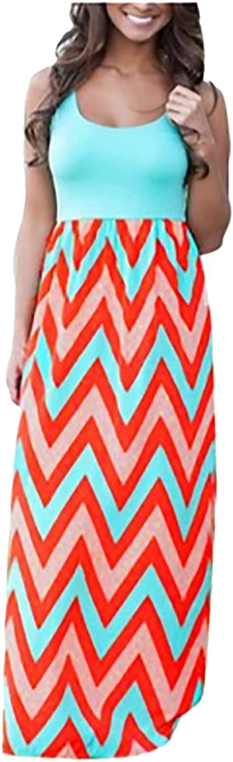Women's Summer Dresses All stores are sold Striped Long Beach Maxi Boho Dress Casual Long-awaited
