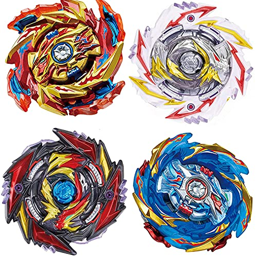 YINGXIANG 4-Piece Gyros Bey Battle Set, Battling Burst Tops with Stickers, Kids Boys Christmas Birthday Party Gift Idea