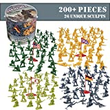 world war 2 german tanks - Army Men Action Figures - 200+ WWII Toy Soldiers - 26 Unique World War 2 Military Men Playset in Realistic Poses