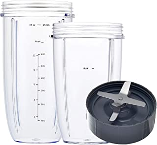 Blender Replacement Parts for Nutribullet, 32oz & 24oz Cups with Replacement Extractor Blade, Compatible with Nutri Bullet...