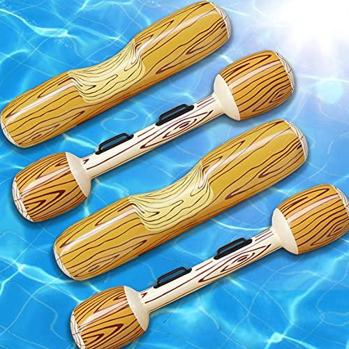 Ysislybin Piscina hinchable para niños y adultos, 2 pares de juguetes de agua inflables con pala, canoa flotante para natación
