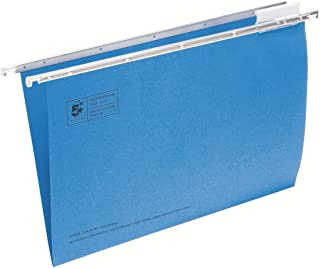 5 Star Office Suspension File Manilla Heavyweight with Tabs and Inserts Foolscap Blue [Pack 50]