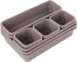 ZFF Boîte de Rangement - 8 pièces/Set réglable Tiroir Boîte de Rangement Plateau cosmétique débris Diviseur Shelf Cuisine ...