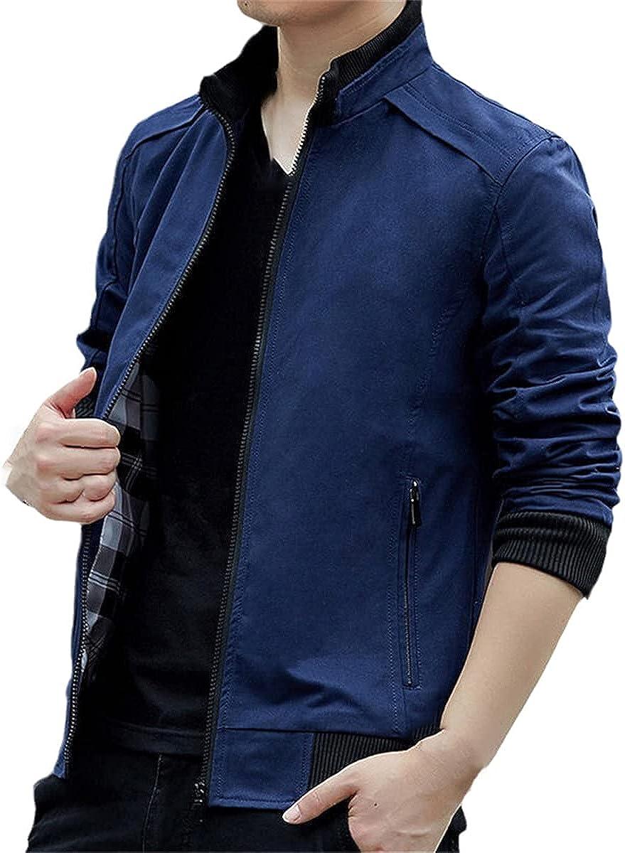 Men's Fashion Pilot Denim Jacket Motorcycle Black Blue Green Pilot Casual Jacket