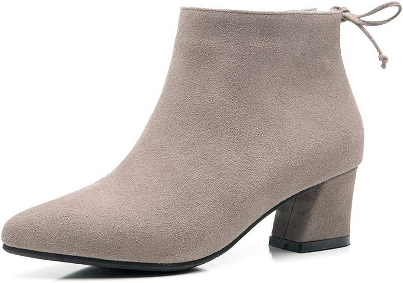 AdeeSu Womens Nubuck High-Heels Solid Urethane Boots SXE04384