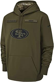 San Francisco 49ers 2018 Men's NFL Salute to Service Olive Hoody