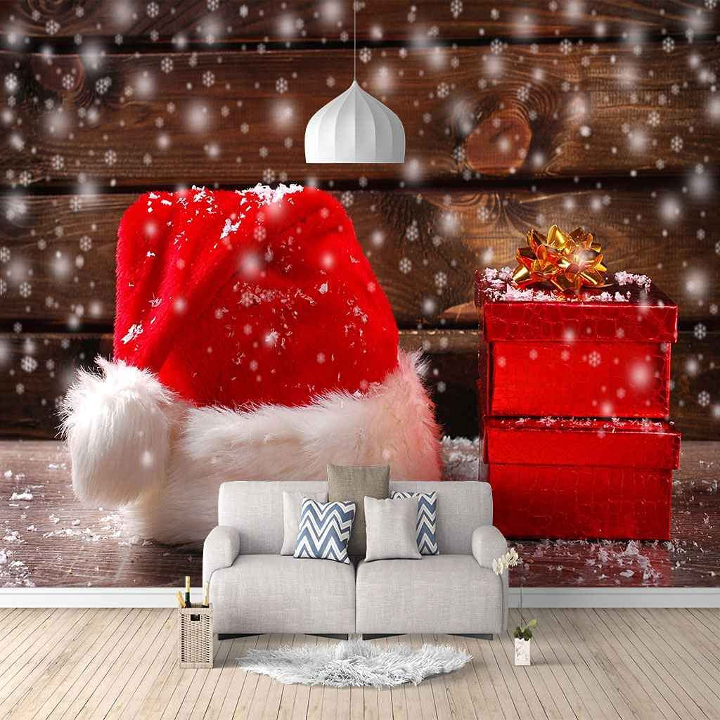 Cheap Fashion mail order specialty store HWCUHL Wall Stickers Kids Bedroom Red W Art Canvas Christmas Hat