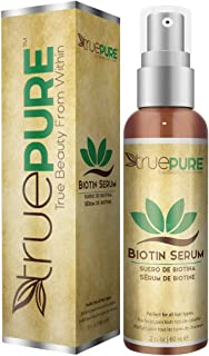 TruePure Biotin Serum With BioPure Complex - Natural, Unscented Leave-In Hair & Scalp Treatment Formula For Healthy Hair Growth & Hair Loss Prevention - 2oz