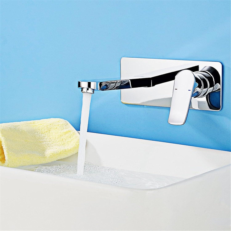 Bijjaladeva Wasserhahn Bad Wasserfall Mischbatterie WaschbeckenDie Blechblser bündige Montage Wand Armatur Waschtisch Armatur Mischen von heiem und kaltem Wasser Badewanne Armat