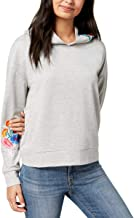 Almost Famous Women's Juniors' Floral-Embroidered Hoodie