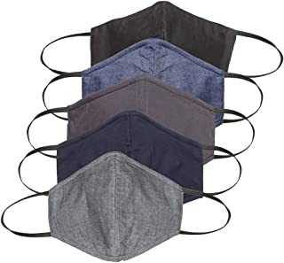 Diverse Cotton Unisex Face Mask – Multicolor, Free Size, Pack of 5