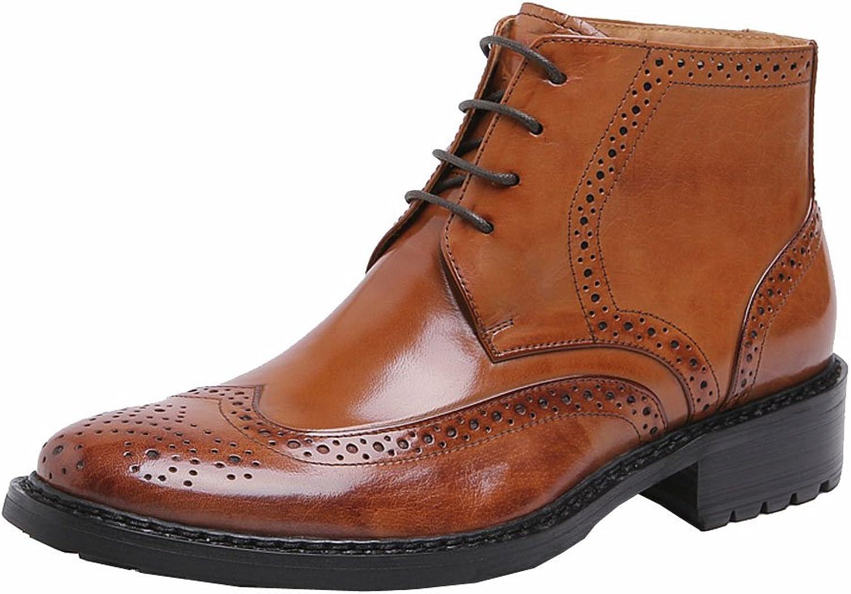 Wuf herr Genuine läder Ankle Ankle Ankle stövlar Lace up  snabba svar