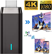 $29 » Wireless Display Adapter, Laiduoao 5G&4K&1080P Wireless HDMI Display Adapter Miracast Dongle Streaming Media Player Mirroring Screen from Phone to Big Screen, Support 5G Miracast Airplay DLNA