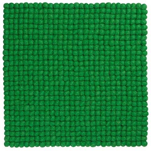 myfelt Filzkugel Sitzauflage/Stuhlauflage - Franz - 36x36 cm, grün